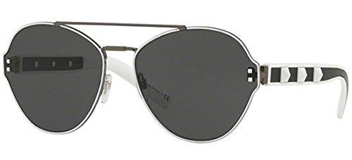 Valentino Sonnenbrillen VA 2025 Ruthenium White Black/Grey Damenbrillen