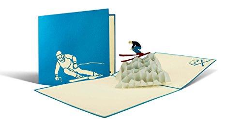 Geburtstagskarte für Skifahrer, Gutschein für eine Skireise, Wintersport, Ski Gutscheinkarte,...