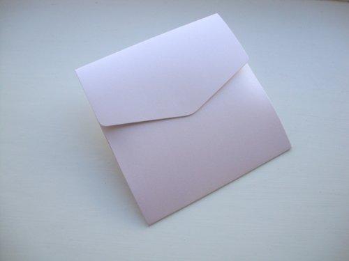 5x Piccolo Quadrato 122x 125mm Rosa/Fold libro rosa perlato morbida inviti, formato di Cranberry Card Company