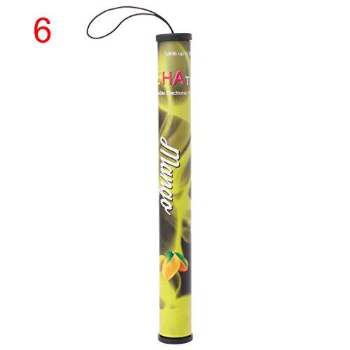 qingqingR 1Pc 500 Puffs Männer und Frauen Neue Wegwerfrauch Dampf Wasserpfeife Elektronische Wasserpfeife Kein Teer Sicher Und Gesund Rauch Traube Mango