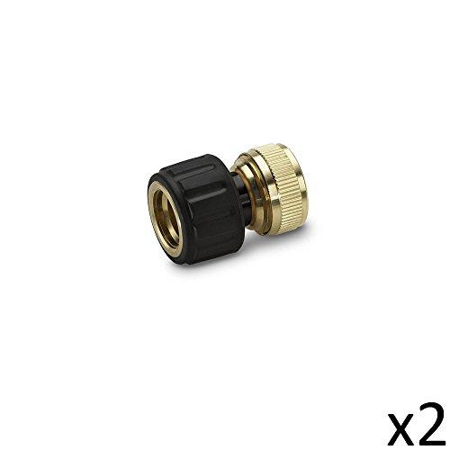 Karcher Kit de 2 Raccords en Laiton 19mm aquastop - 2.645-018.0