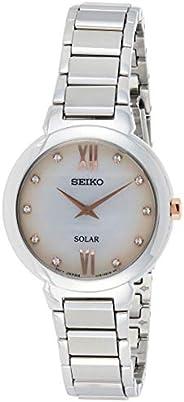 Seiko Womens Quartz Wrist Watch, Analog and Stainless Steel- SUP381P1, Silver