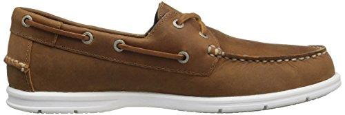Sebago Mens Liteside Two Eye Boat Shoe Brown Oiled Waxy Leather/Gum Outsole