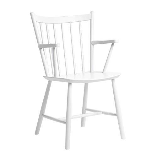 HAY J42 Chair Armlehnstuhl Gestell Buche, weiß Buche gebeizt Gestell Buche weiß gebeizt