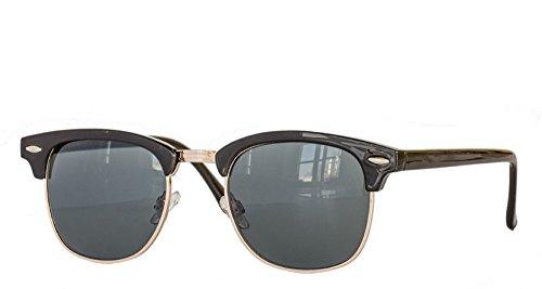 lubmaster clubma Vintage Sonnenbrille (2 schwarz - dunkel) (Dunkle Schwarze Sonnenbrille)