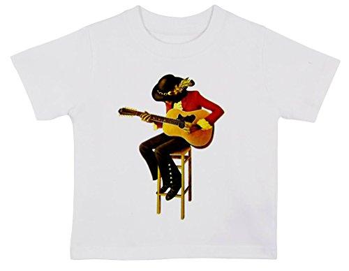 Jimi Hendrix illustrazione Baby T Shirt bianco White 2-3 anni