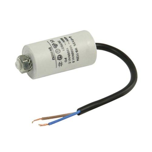 Kondensator Motorkondensator Anlaufkondensator Betriebskondensator Arbeitskondensator 450V mit Kabel 4 µF ±5% / 4,0 uF / 450 V + Kabel W9 Ø 30x55 mm (Anlaufkondensator Betriebskondensator Motor)