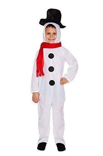 achts Schneemann Kinder Kostüm Kostüm - 7-9 Jahre ()