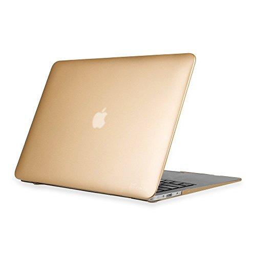 Fintie MacBook Air 13 Hülle - Ultradünne Plastik Hartschale Schutzhülle Snap Case für Apple MacBook Air 13.3 Zoll (A1466 / A1369), Gold - Pro-tastatur-abdeckung Mac Holz