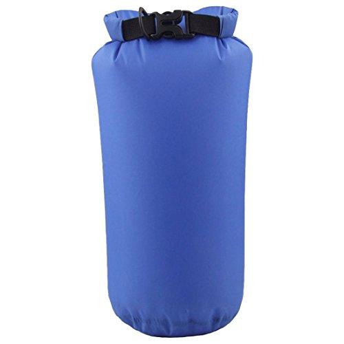 Kompressions Packsack - LUCKSTONE 15L Wasserdicht Trocken Sack Lightweight Kompression Tasche fuer Kanu Bootfahren Kajak Rafting (Saphir)
