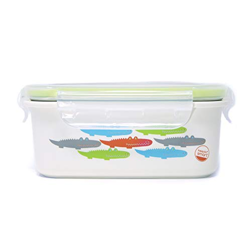 Innobaby KS-BT-ALLI01 Keepin' Smart-Doppelisolierte Edelstahl Bento Brotdose, Alligator blau/grün