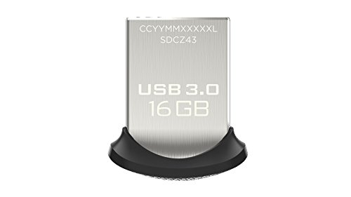 SanDisk Memoria flash USB 3.0 Ultra Fit de 16 GB, velocidad de...