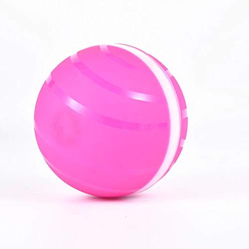 JsJr-K-In Haustier Hund Katze Ball Spielzeug, Kunststoff glühenden bösen Ball Haustier Hund Katze Spielzeug elektrische LED wasserdichte Roller Ball Spielzeug (Farbe: blau, schwarz, rosa)
