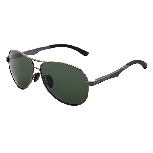 GQUEEN Sonnenbrille Polarisiert Piloten Sonnenbrille Pilot Flieger Pilotenbrille Herren MOS1