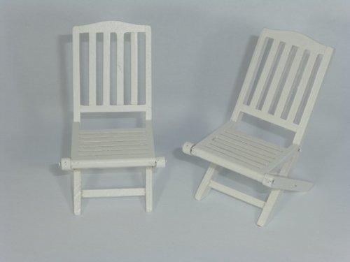 Creal 30871 Gartenstühle weiss für Puppenhaus 2er Set NEU!