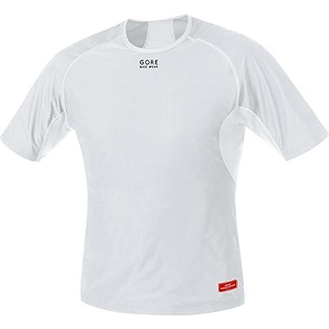 GORE BIKE WEAR Herren Unterzieh-Shirt, Kurzarm, Stretch, GORE WINDSTOPPER, BASE LAYER WS Shirt, Größe: XL, Hellgrau/Weiß,