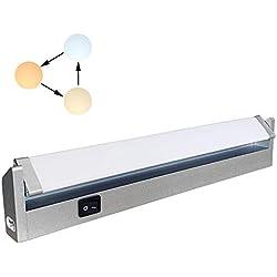 Réglette LED Orientable avec Interrupteur, Luminaire Sous Meuble Lumière Réglables pour Cuisine/Armoire/Placard/Escalier/Couloir 3000K 4000K 6000K 7W 33 cm