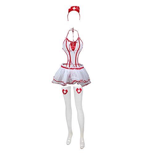 Your global store Babydoll Unterwäsche Dessous Sexy Porno Erotik Uniform Krankenschwester Kleid Für Frauen Cosplay Sex Kostüme Uniform Geburtstag Urlaub Geschenk (Übergröße Urlaub Kostüm Frauen)