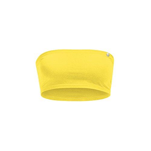 Curare, Top a fascia sportivo Donna 'Mini Tube', Giallo (Super Lemon), M Giallo (Super Lemon)
