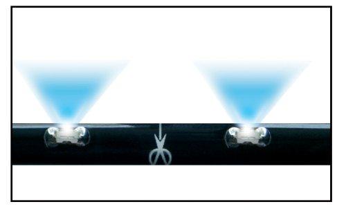 Preisvergleich Produktbild Simoni Racing FPL / 2W Set Konfektionierbare mit 18 LED-Streifen Flexibel In Serie Länge 30 Cm Weiß,  2 Stück