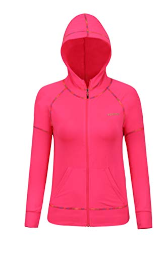 Langarm-hoodie, Zip Top (Damen Active Sport Full Zip Jacke Langarm Hoodie Fitness Gym Top)