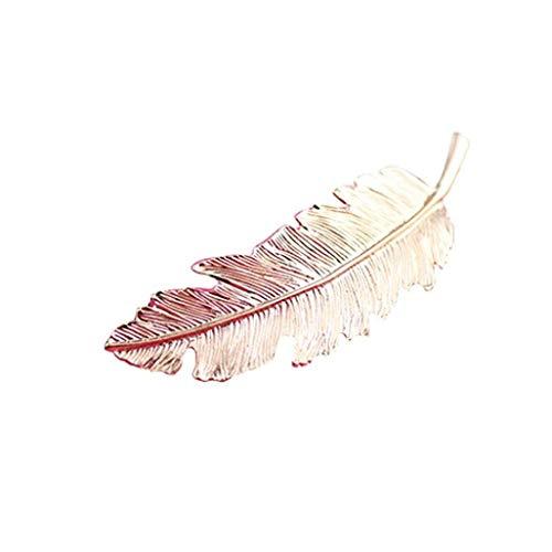 TINGSU Haarnadeln für Frauen und Mädchen, Blatt-Design, goldfarben