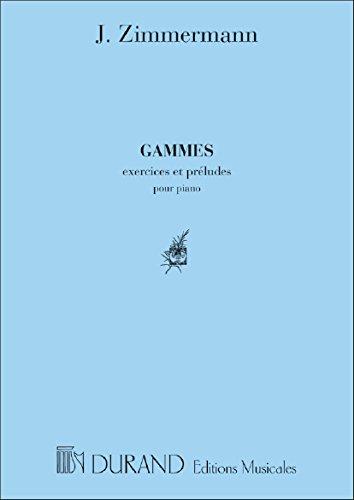 Gammes Piano par J. Zimmermann
