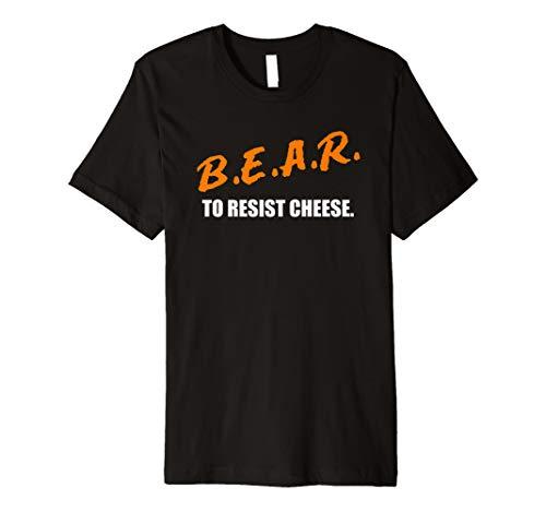 b.e.a.r. zu widerstehen Käse Chicago Fußball Rivalität T-Shirt