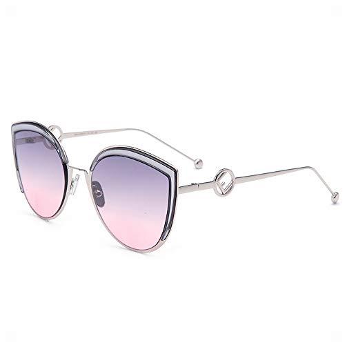 YanyanNKC New Wave Retro Katzenauge Mode Fahren Spiegel Net Red Sonnenbrille Weibliche 6 * 5,5 In F