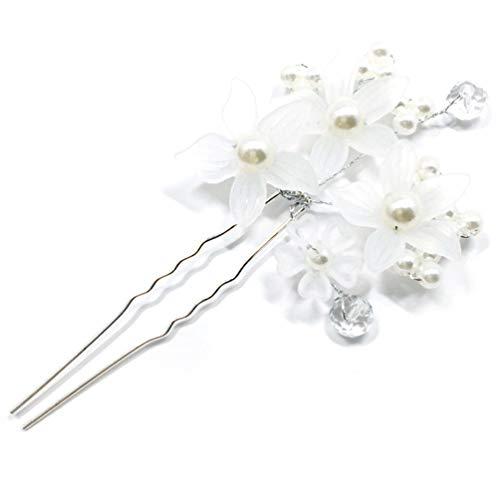 2058d1b6ee82 TAOHOU Boda Perla Nupcial Perlas en Forma de U Perla Clip Horquillas  Accesorios Blanco