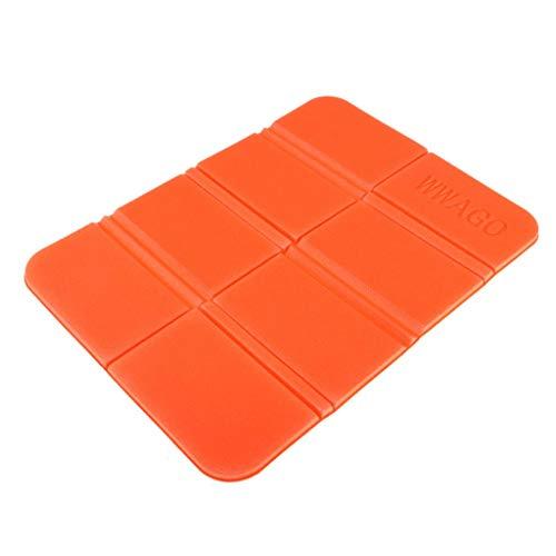 Unbekannt MagiDeal Faltbares Klappbar Sitzkissen ISO-Sitzmatte für Outdoor-Aktivitäten - Orange