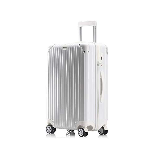 XF Carrelli portavaligie Borsa valigia trolley universale universale per trolley da viaggio moda 59X38X24 bianco oro rosa titanio argento Accessori