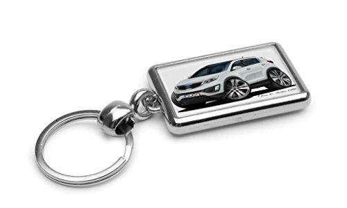 wickedartz-cartoon-car-kia-sportage-mk3-white-premium-metal-key-ring