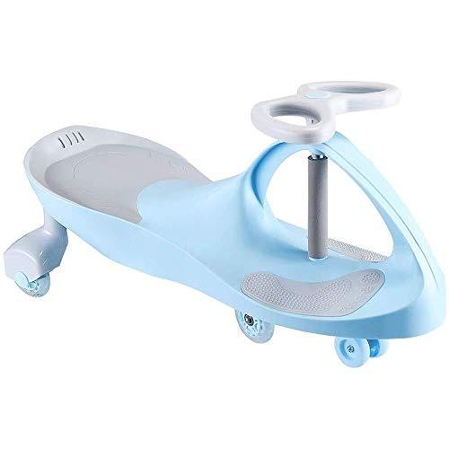 ZCR Kinder Twist Car männliche und weibliche Babyschaukel Car Sliding PU Universal-Rad-Schwingen-Anti-Rollover-Wanderer for 1-6 Jahre alte Kinder (Color : Blue)