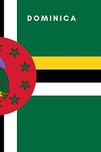 Dominica: Country Flag A5 Notebook (6 x 9 in) to write in with 120 pages White Paper Journal / Planner / Notepad