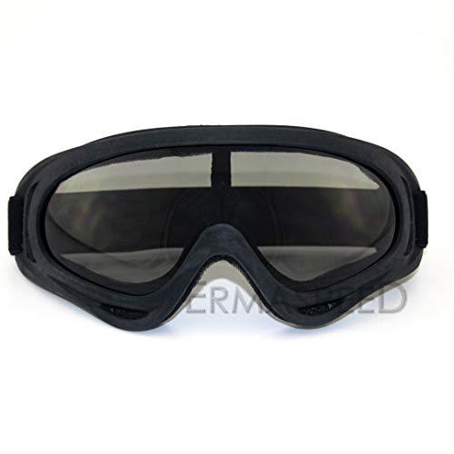 H-MetHlonsy Motorradbrille Bulletproof Army Polarized Military Sonnenbrille Motocross Jagd Schießen Motorrad Roller Biker Brille Brown Lens