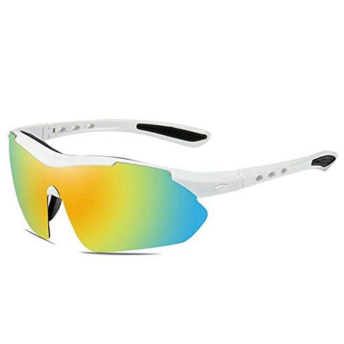 DZBMY Sonnenbrillen Männer und Frauen im Freien Reiten Sport polarisierte Colorful Explosion-Proof UV-Halb-Frame Running Cycling Angeln Golf Gläser