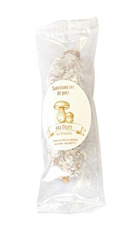 150g Feine Salami mit Steinpilzen aus Frankreich/Saucisson de Porc aux Cèpes, luftgetrocknete Salami