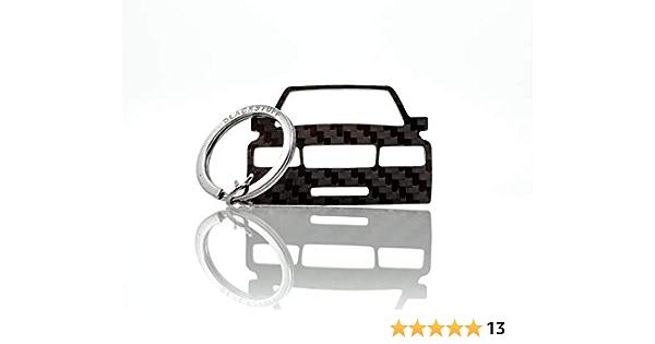 Blackstuff Carbon Karbonfaser Schlüsselanhänger Kompatibel Mit W201 190e Cosworth Bs 609 Auto