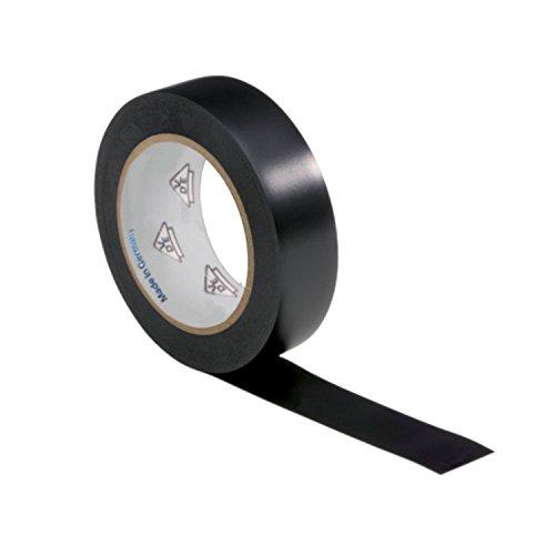 1 Rolle VDE Isolierband Isoband Elektriker Klebeband PVC 15mm x 10m DIN EN 60454-3-1 Farbe: schwarz -