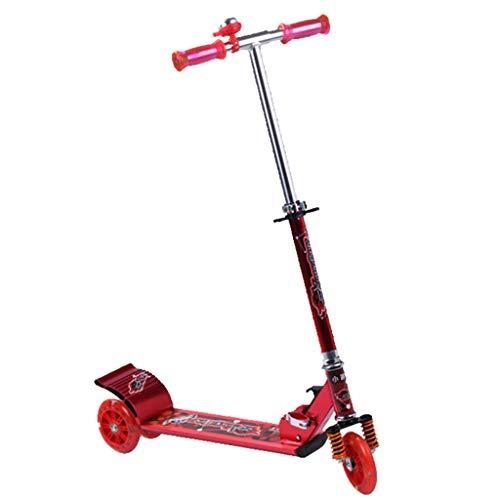 Scooters liuwenan Kinder Roller Kinder Indoor- und Outdoor Tretroller Kleines Fahrrad für Kinder im Alter von 3 bis 15 Jahren (Color : RED, Size : 81CM*12CM*98.5CM)