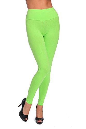 FUTURO FASHION® Hoch taillierte Leggings in voller Länge plus Größen LWP Limette Größe 50
