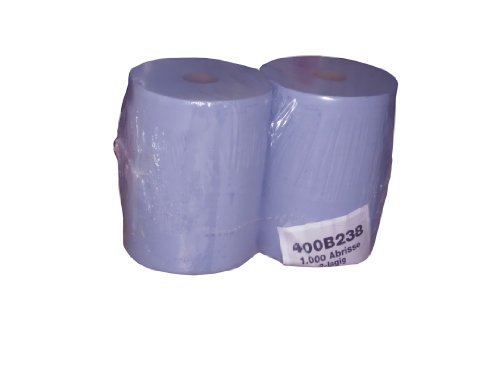Preisvergleich Produktbild 2 Putzrollen Putztuchrollen Wischtücher blau 2 x 1000 Blatt 36x36cm saugstark reißfest