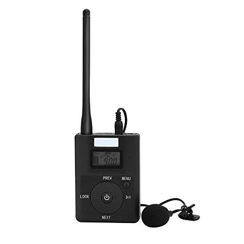 Delaman UKW Sender tragbarer 3,5mm FM Stereo Radio Broadcast Adapter mit geringem Stromverbrauch