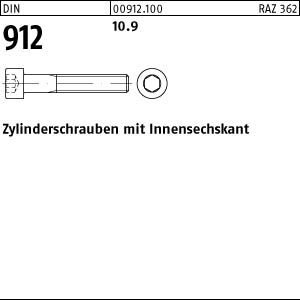 50 Zylinderschrauben DIN 912 10.9 M 10 x 320 VE=S