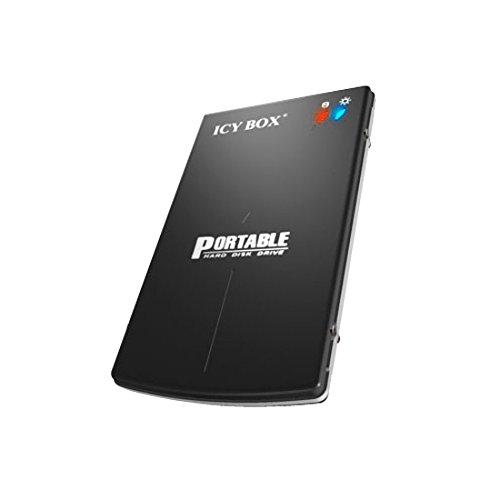 """ICY BOX IB-250StU3 BH Externes Gehäuse für 2,5"""" HDD/SSD (Bauhöhe bis 12,5 mm) mit USB 3.0, SATA III, UASP und Aluminium-Gehäuse schwarz"""