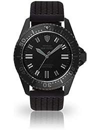Detomaso San Remo–Reloj de Buceo automático para Hombre analógico de Pulsera Silicona Negra Esfera Negra dt1025de N- 771