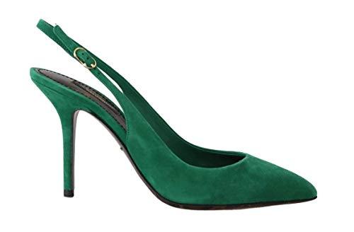 Dolce & Gabbana - Damen Schuhe - Pumps Green Suede Leather Slingbacks Heels- EU 39 Dolce & Gabbana Print-heels
