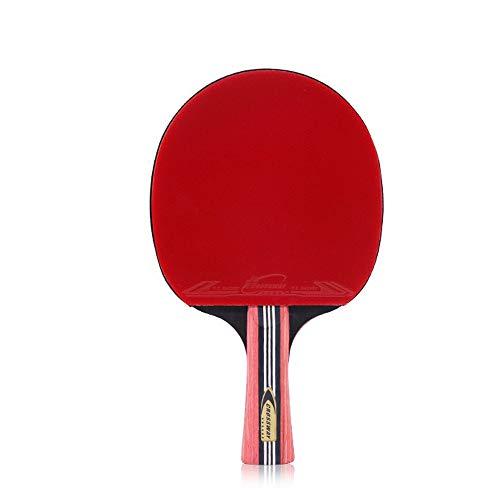 LZY Tischtennisschläger mit 6 Sternen, doppelseitiger Kleberückung für Tischtennisschläger mit fortschrittlicher Geschwindigkeit, Kontrolle und Rotation, Longhandle