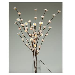 Cherry Blossom Twig Branch Light, Warm LED Lights with Plug-In Power Adaptor